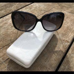 EUC Coach Sunglasses In Case